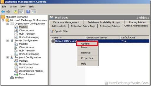 Exchange 2007 offline address book not updating clients