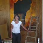 Isabelle dans son atelier