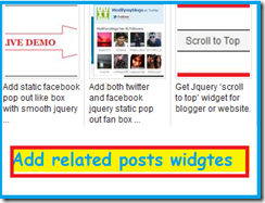 add related posts widget to your blogger
