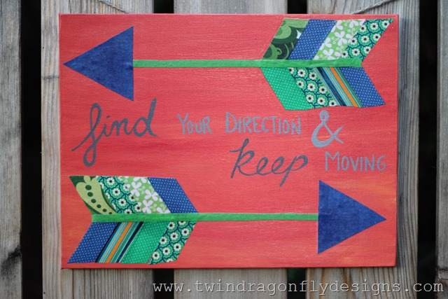 Fabric Arrow Canvas Quote (17)