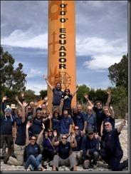 Group at equator crazy