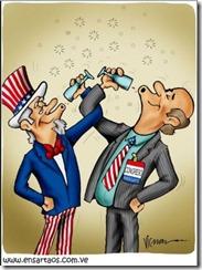 Comemoração.Caricatura de Victor Nieto