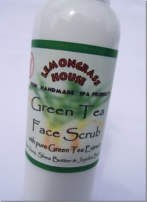 lemongrass house green tea face scrub