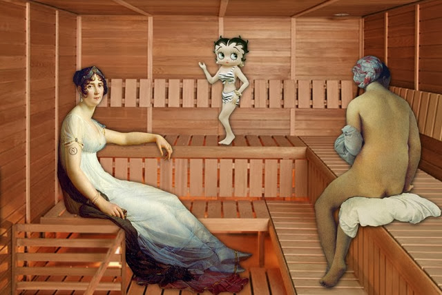 What happens in the sauna
