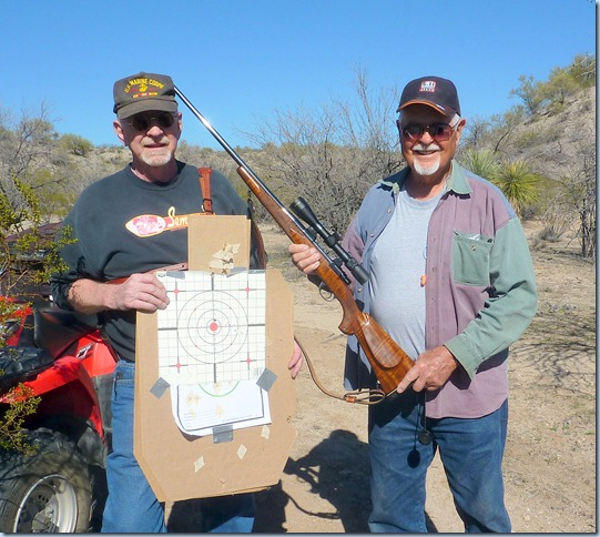 A couple of Old Guys that are mighty happy the way the new 30-06 shoots...Right On !!