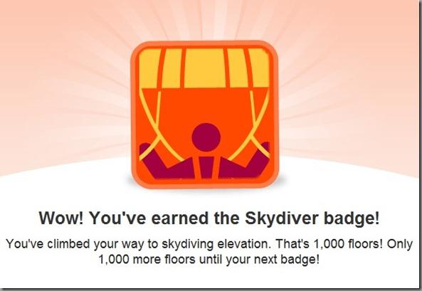 skydiver badge