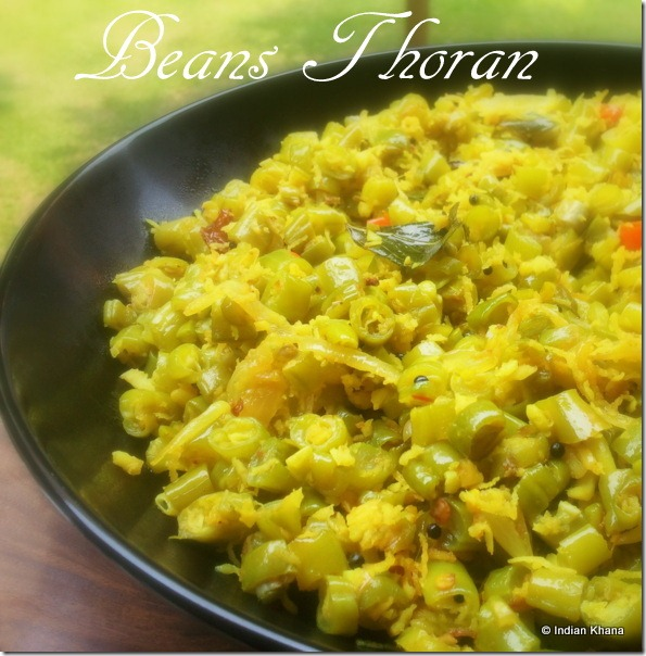 Beans Stir Fry thoran poriyal recipe