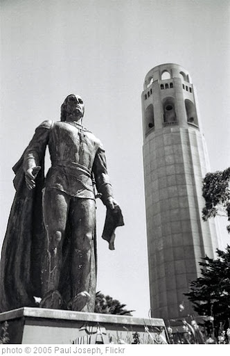 'christopher columbus, at coit tower' photo (c) 2005, Paul Joseph - license: http://creativecommons.org/licenses/by/2.0/