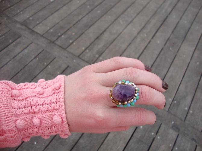 handmade amethist ring