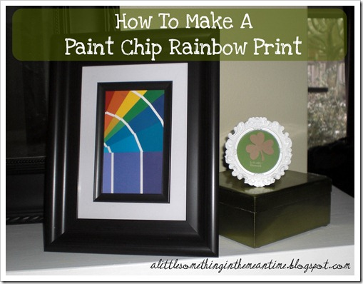 How to make a paint chip rainbow print