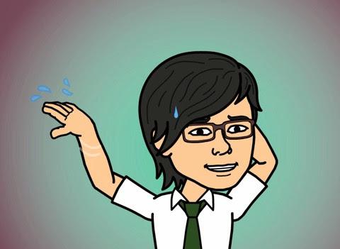 動揺のBitstrips自画像