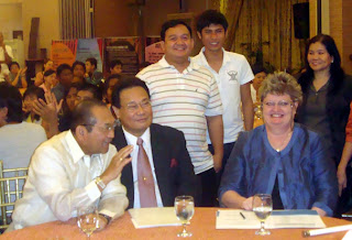 (Seated) Philippine Executive Secretary Eduardo Ermita, Atty. Renato Corona, UN Resident Coordinator Jacqueline Badcock (Standing) Sir Ervin, Lucky and NCDA Chief Nelia De Jesus