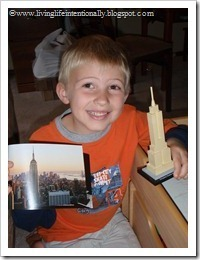 American Landmark: Empire State Building out of Legos