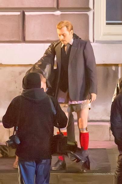 Johnny Depp bokszerben és térdig érő zokniban a Mortdecai forgatásán 14