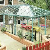 Przykład konstrukcji zewnętrznej - ogród zimowy.