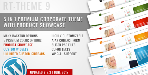 RT-Theme 9 / Business Theme 5 in 1 For Wordpress - Business Corporate