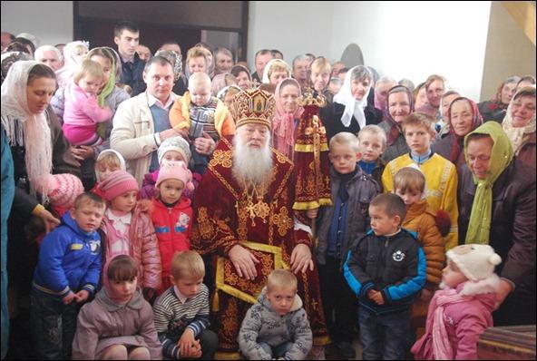 Митрополит Ніфонт у селі Вишнів