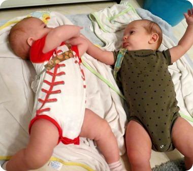 Twins Bathtime