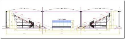Plano pisa central adaptada en las instalaciones cubiertas tenis ciuda de la raqueta. Bwin ppt madrid 2012