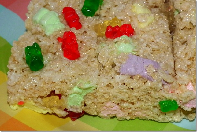Gummy Bear Rice Krispies Treats