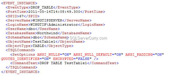 SQL Server DDL Trigger