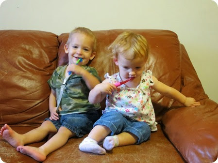Twins, 16 months old