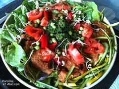 salade au pesto d'orties
