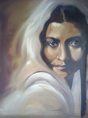 A portrait by the Indian Artist Akriti Rathore