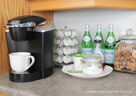 Coffee and Beverage Station  from www.simpleispretty.com