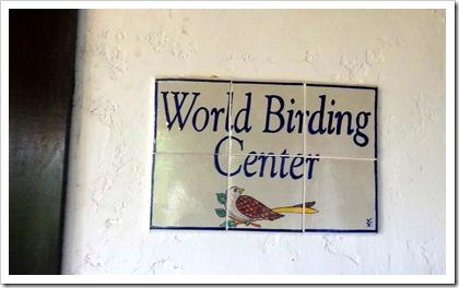 birding center sign