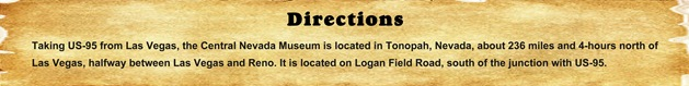 Directions - Nevada Central Museum
