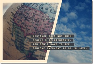 distance in a relationship