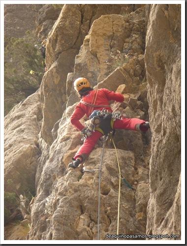 Via Gali-Molero 500m 6b  Ae (V  A1 Oblig) (Roca Regina, Terradets) (Omar) 0204