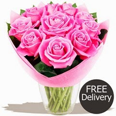 FREE DELIVERY Mothers Day Flowers - Pretty Pink Mothers Day Roses
