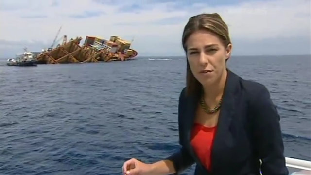 Kim Vinnell reports on the MV Rena disaster, 19 January 2012. ONE News / TVNZ