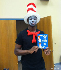Up as the cat in the hat complete with face makeup you might want to