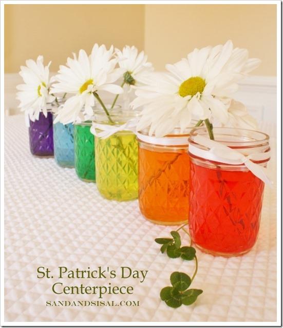 St. Patrick's Day Centerpiece - Sand & Sisal