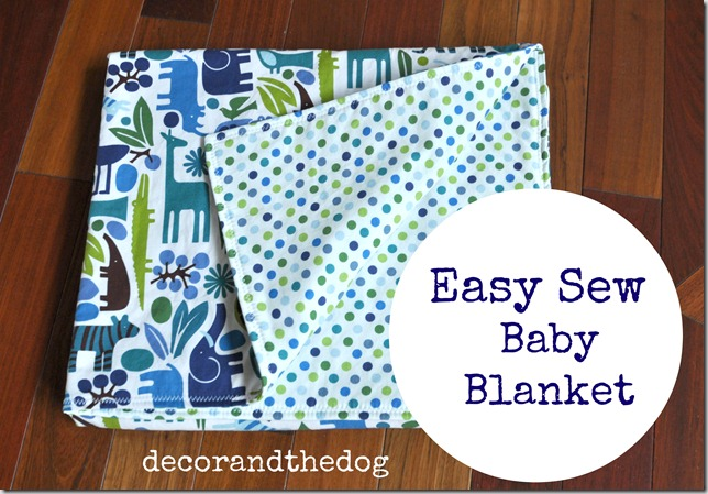 Easy Sew Baby Blanket