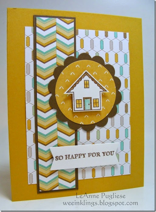 LeAnne Pugliese WeeInklings You Brighten My Day New House Stampin Up