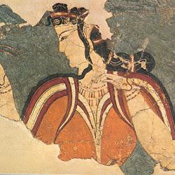 16.- Frescon con representación de una diosa. Micenas
