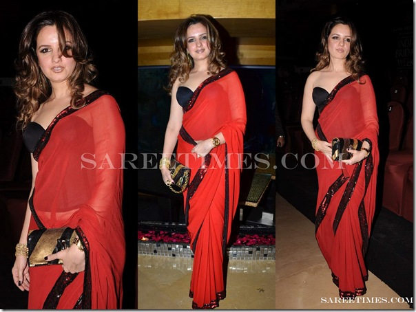 Adarsh_Gill_Red_Saree