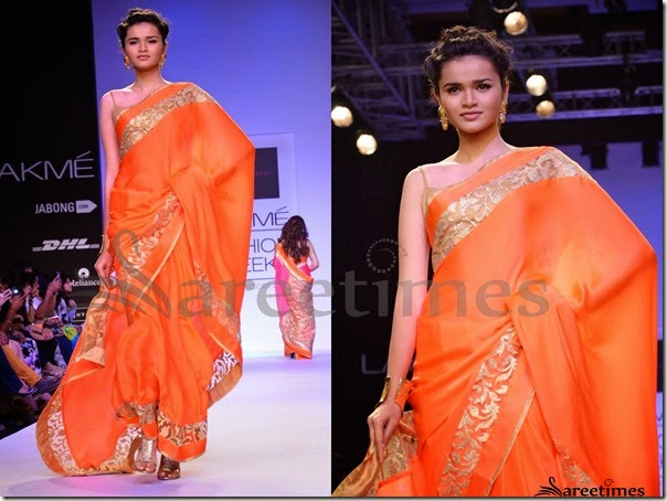 Mandira_Bedi_Orange_Saree