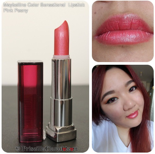 Priscilla review Maybelline Color Sensational  Lipstick Pink Peony