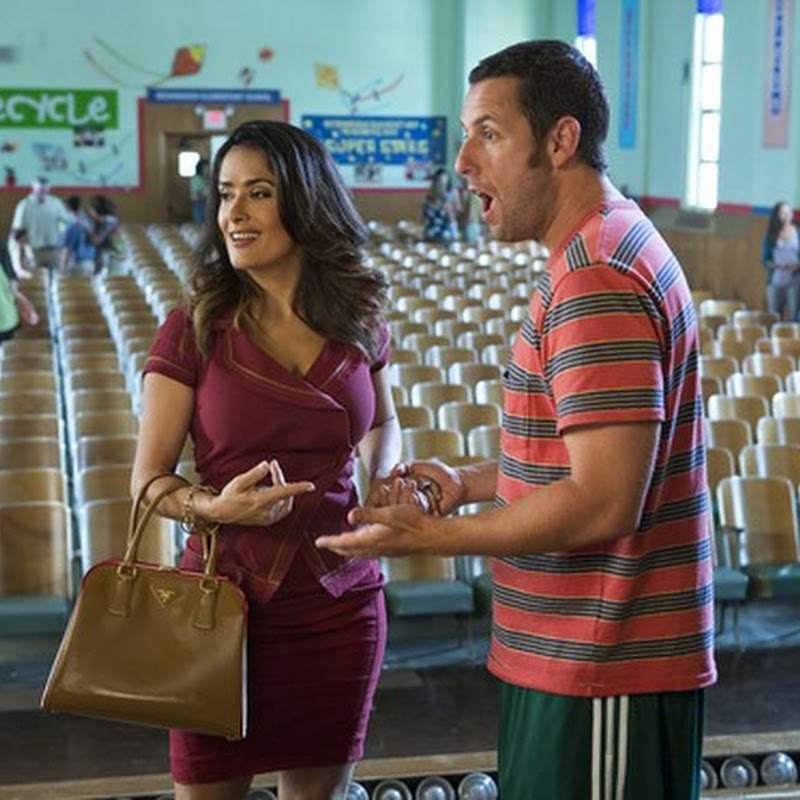 "Salma Hayek Returns as Sandler's Wife in ""Grown Ups 2"""