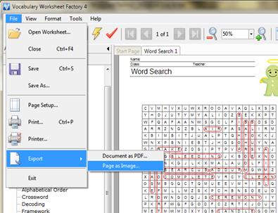 เฉลย wordsearch