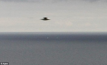 Another flight of fancy for conspiracy theorists as 'UFO' is caught on camera off Cornish coast