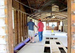 1407165 July 14 Terry And Tony Looking At Floor Joists