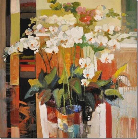 Still life with orchids-Iosif Derecichei-Enkaustikos