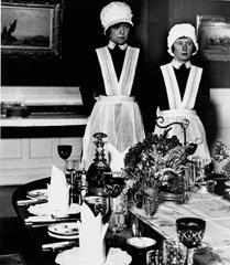 Bill Brandt Parlourmaid and Underparlourmaid Ready to Serve Dinner [NY-BB-1006]