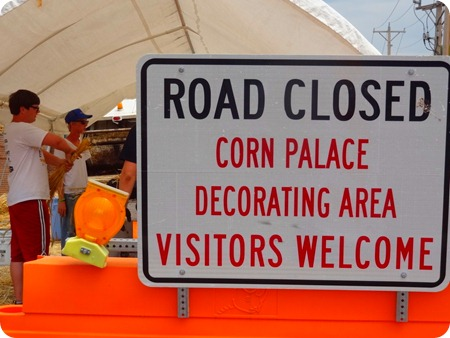 Corn Palace decorating